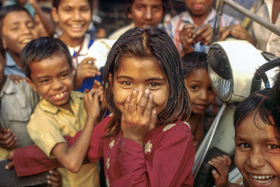Bangladesh - Dhaka. Tussen 1989 en 1995 was Robert Mulder een aantal keren in sloppenwijken in Bangladesh.